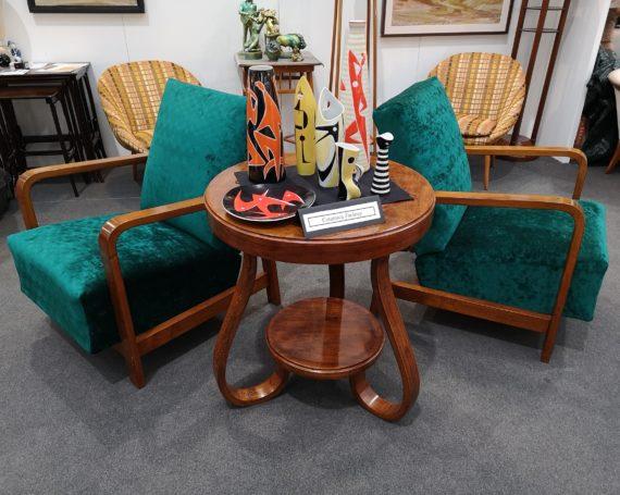 Tilting Art Deco armchairs