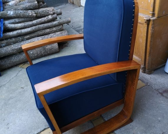 Armchairs Art Deco in curved beech